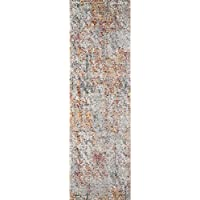 Momeni Rugs LOFT0LO-05MTI2376 Loft Collection, Contemporary Area Rug, 23 x 76 Runner, Multicolor