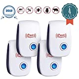 JALL Ultrasonic Pest Repeller Plug in Pest Reject, Electric Pest Control Repellent for Bed Bugs, Cockroach, Rat, Spider, Flea, Ant, and etc. 4 Pack