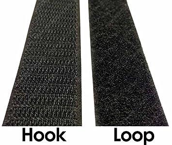 Electriduct 1//2 Self Adhesive Hook /& Loop Sticky Back Tape Fabric Fastener 15 Feet