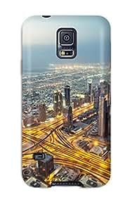 Fashion Protective View From Burj Khalifa Dubai Case Cover For Galaxy S5 9928645K73224845