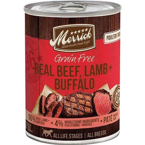 Merrick Grain Free Real Beef/Lamb/Buffalo Pet Food, 13.2-Ounce (Pack Of 12) (Best Costco Prepared Foods)