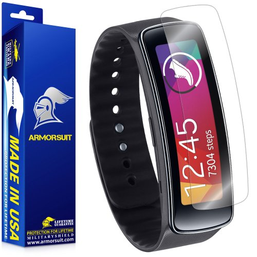 ArmorSuit Samsung Gear Fit Screen Protector (2 Pack) Full Coverage MilitaryShield Screen Protector For Gear Fit -HD Clear Anti-Bubble
