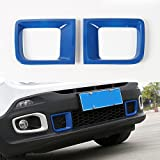 ABS Front Bumper Air Intake Duct Vent Cover Trim Bezel Frame Decor For Jeep Renegade 2015 2016 (Blue)