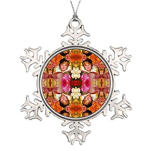 EvelynDavid Tree Decorating Ideas Customisable Vibrant Vintage Woman Abstract Western Christmas Snowflake Ornaments Tree Decor