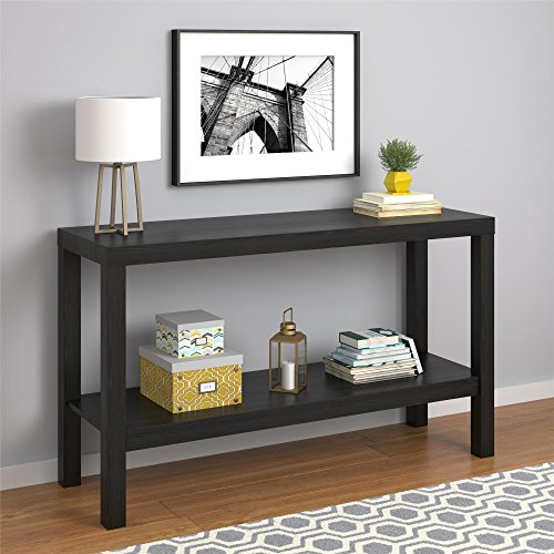 Parsons Console Table, BLACK OAK, used for sale  Delivered anywhere in USA