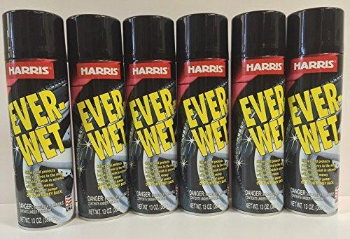 Harris Ever Wet Ever Wet Spray Tire Shine, Silicone based tire shine, Non splatter tire shine, Aerosol based, Long lasting formula (12 Units/1 Box) (Non Silicone Tire)