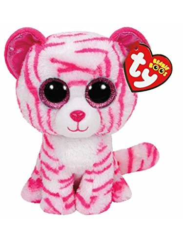 Soft TY Beanies Boos ASIA The Pink Striped Tiger Plush Collectible Toy dolls 6'' by unbrand