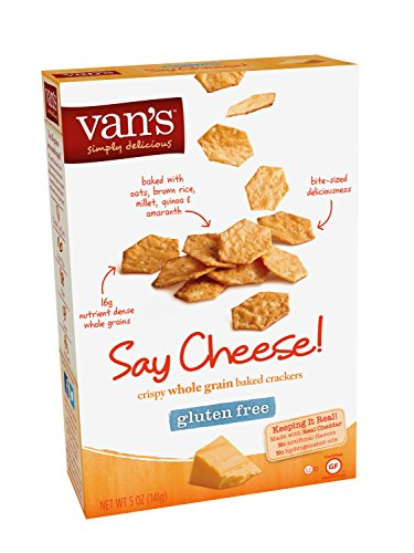 Price comparison product image Van's Simply Delicious Crackers, Say Cheese!, 5 Ounce (Pack of 6)