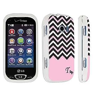 Zheng case LG Extravert 2 Hard Case White - (Black Pink White Chevron T)