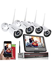[Smart All in One]1080P Wireless Security Camera System with 1TB Hard Drive&10.1 inches Monitor, SAFEVANT 8 Channel Video Security Systems 4pcs 2.0MP 1080P Indoor Outdoor Home IP Cameras Night Vision Motion Detection