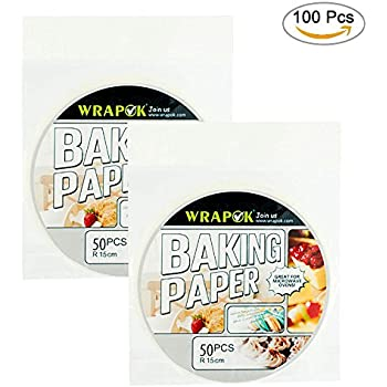 Amazon.com: WRAPOK Air Fryer Liner 6 inch Round Perforated