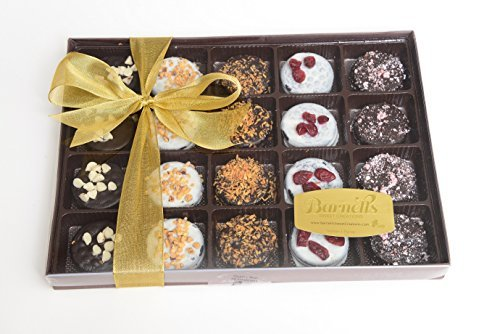 Elegant Chocolate Covered Sandwich Cookies Giftbox - Five Flavors by Barnetts Fine Biscotti