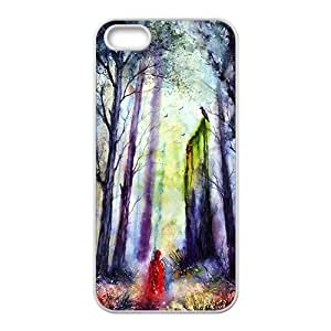 Abstract forest scenery Phone Case for iPhone 5S(TPU)