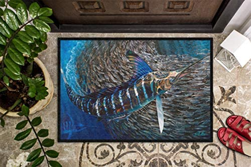 Caroline's Treasures JMA2014JMAT Striped Gem Striped Marlin Indoor or Outdoor Mat 24x36, 24H X 36W, Multicolor