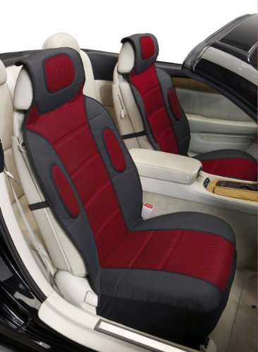 (Eurow Sideless Sport Mesh Seat Cover (Red,)