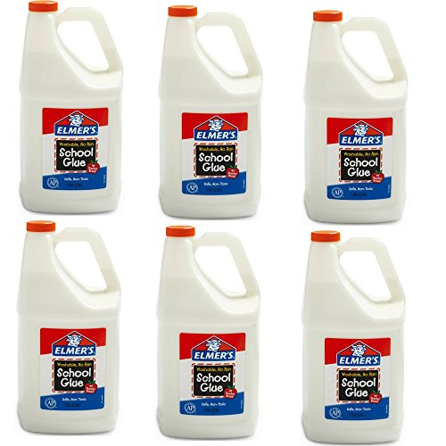 Elmer's School Glue Jar, Washable, 1 gal Capacity (6 Pack) by Elmer's