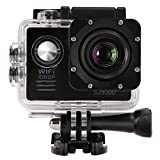 2.0'' WIFI 12MP HD 1080P 170° Wide Sports Action Camera, 2.0 inch LCD,70° Super Wide Angle Fisheye Lens Camcorder,Waterproof Rechargeable Battery, Mount Accessories Kit Included