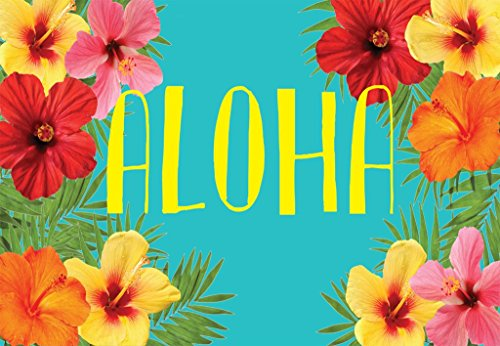 "Unique Textile Printing Aloha - Hibiscus Hawaiian Welcome Carpet Door Mat 18""x26"" -"
