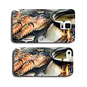 Grilling fresh lobster on Caribbean beach :) cell phone cover case Samsung S6