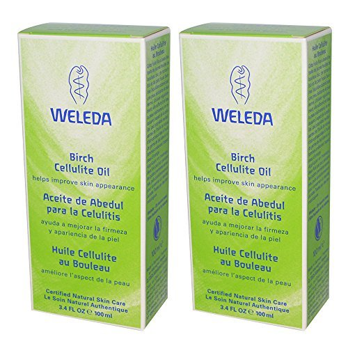 Weleda Natural Organic Birch Oil Cellulite Cream Remover Treatment With Age Defying Serum, Apricot, Jojoba and Vitamin E for Anti-Aging and Removing Swelling and Puffiness, 3.4 fl. oz. (Pack of 2)