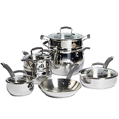 Epicurious Stainless Steel 11-Piece Cookware Set