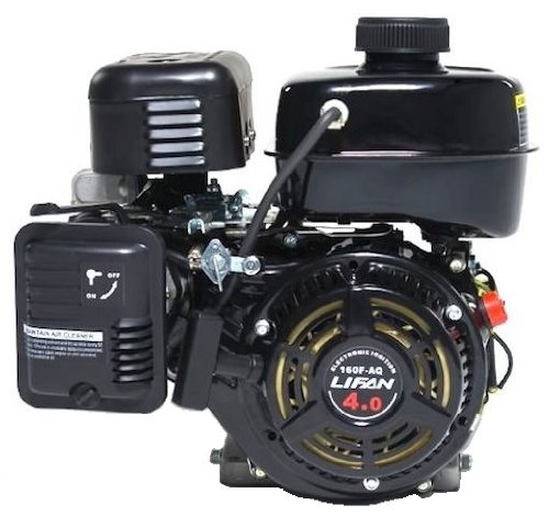"Lifan LF160F-AQ 4 HP 118cc 4-Stroke OHV Industrial Grade Gas Engine with 3/4"" Keyway shaft, Recoil Start, and Universal Mounting Pattern"