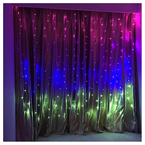 (Fefelightup Colorful Curtain Lights Fairy Lights Icicle Lights Fantasy Decoration (Mix Four))