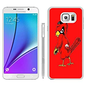 Unique Samsung Galaxy Note 5 Skin Case ,Fashionable And Durable Designed Phone Case With st louis cardinals logo White Samsung Galaxy Note 5 Screen Cover Case