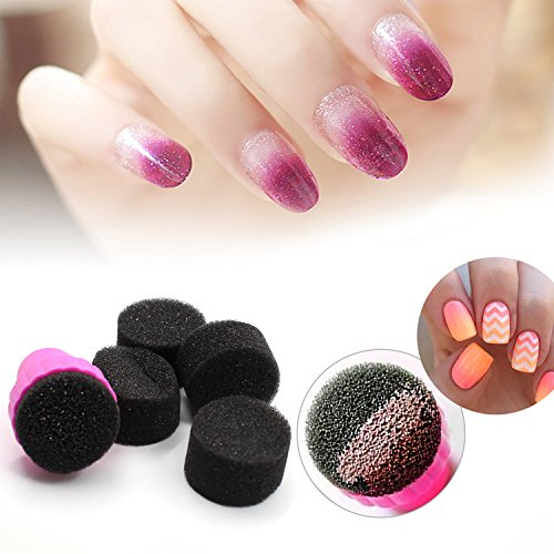 Nail Art Set, Tape Line Nail Stickers, Colored Rhinestones Decoration, 45 Sheets Nail Art Stickers, Gradient Nails Sponges for Color Fade Manicure, Dotting Marbleizing Pen for Pedicure by Sinsun (Image #4)