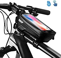 EiioX Bicycle Frame Bag, Bike Frame Bag Waterproof Bike Pouch Bag Bike Handlebar Bag Cycling Front Top Tube Touchscreen...