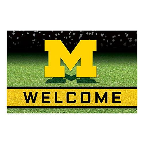 NCAA University of Michigan Wolverines Heavy Duty Crumb Rubber Door Mat