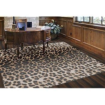 Amazon Com Milliken Innovation Zimbala Leopard Print Rug