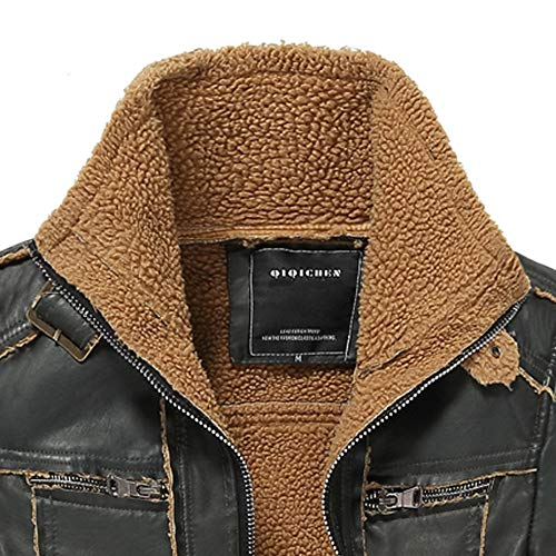 A Modo Outwear Cappotti Multi taschino Giacca Uomini Uomo Di Da Con Parka Media Ispessimento Inverno Lungo Nero In Lunghezza Pelle Abcone Degli Cappotto UPw1q44