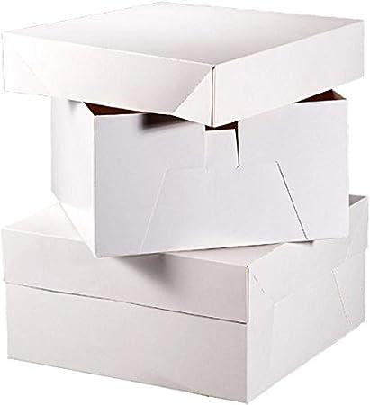 Club verde pastel cuadrado caja, color blanco, 330 x 330 x 152 mm: Amazon.es: Hogar