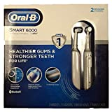 Oral-B Smart 6000 Rechargeable Toothbrush - with BLUETOOTH - Pack of 2 Brushing Sysytems