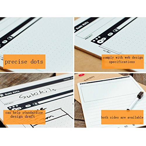ZZ Lighting Creative Portable Whiteboard Double-Sided Whiteboard Dry Erase Board Office Drawing Painting Board Small Graffiti Board with Marker by ZZ Lighting (Image #4)