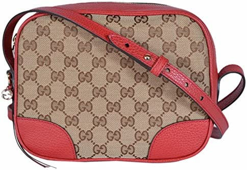f85323f8fe35df Gucci Women's Canvas Leather GG Guccissima Small Bree Crossbody Purse ...