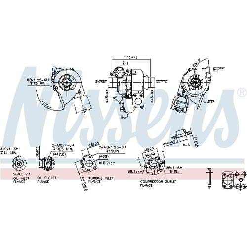 Nisss 93257 Turbo Charger: