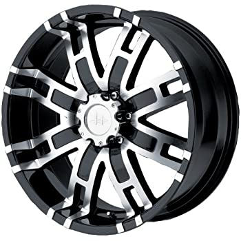 "Helo HE835 Gloss Black Machined Wheel - (20x9""/5x5.5"")"