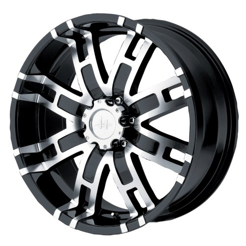 "Helo HE835 Gloss Black Machined Wheel - (18x9""/6x5.5"")"