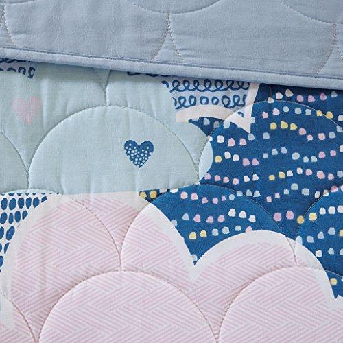 Urban Habitat Kids Twin/Twin for Girls - Blue, – Quilts Cotton Quilt