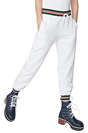 Pantalon Long Sport Femme avec Cordon de Serrage Mode Casual Baggy Harem  Pants Straight Trousers Taille e3fe505d764