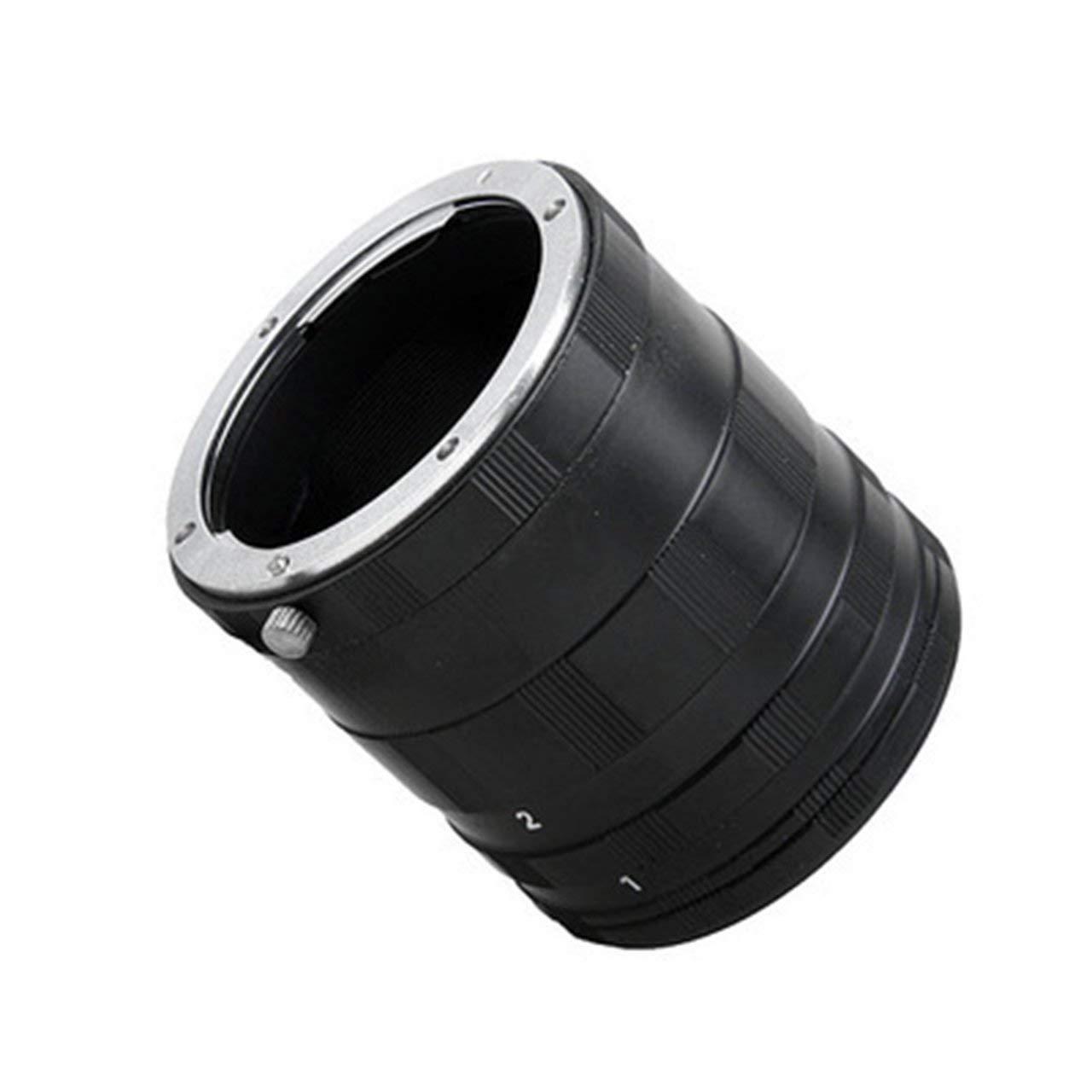 ITjasnyfall Anello Adattatore per prolunga Macro Adattatore Fotocamera per Obiettivo fotocameraDSLR Nero
