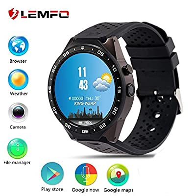 LEMFO LEM3 3G Smart Watch Cell Phone All-in-One MTK6580 Android 5.1 Quad Core WiFi GPS Heart Rate Monitor