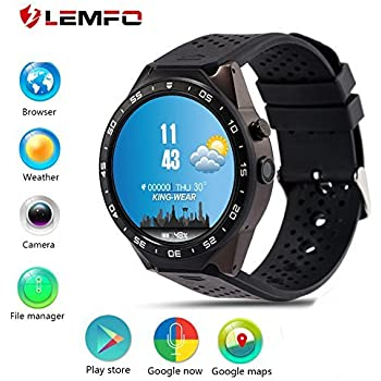 Amazon.com: LEMFO KW88 3G Smart watch, Android 5.1 OS ...