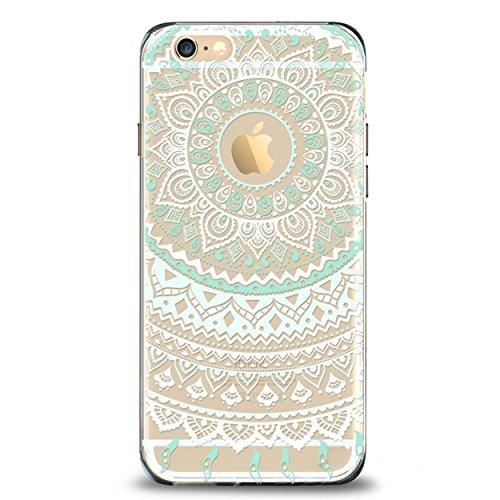 iPhone 6 6s Case,by Ailun,Solid Acrylic Back&Reinforced Soft TPU Frame,Ultra-Slim,Shock-Absorption Bumper,Anti-Scratch&Fingerprint&Oil Stain Back Cover[Mandala MintGreen]