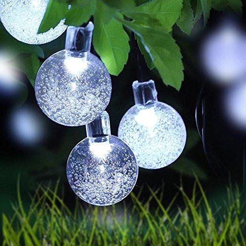 Globe String Lights, LOENDE 8 Modes Waterproof White Crys...