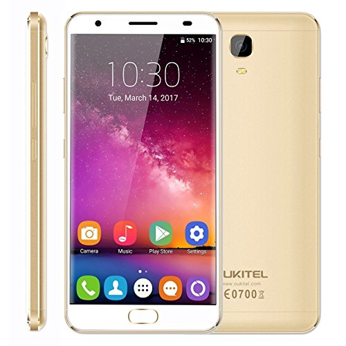 OUKITEL K6000 Plus 4GB RAM 64GB ROM 5.5 Inch Android 7.0 MTK6750T Octa Core Up To 1.5GHz FDD-LTE (Gold)