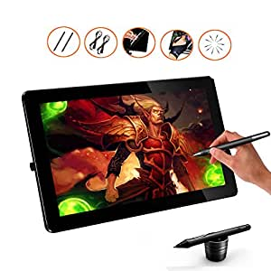 Ugee HK1560 15.6 Inches IPS Screen HD Resolution Drawing Monitor Interactive Pen Display with 1 PC Screen Protector
