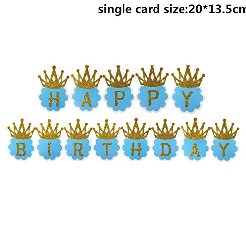 625 Plum - 1Set Paper Happy Birthday Banner Party Decorations Kids Garland Children Baby Boy Girl Child Bunting Adult Favors Supplies Plum